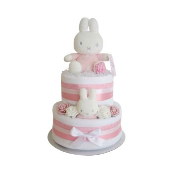 Miffy Baby Girl Nappy Cake