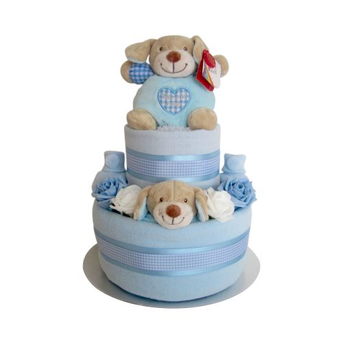 Baby Boy Two Tier Nappy Cake