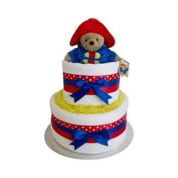Paddington Bear Two Tier Nappy Cake