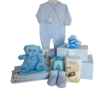 Baby Boy Teddy Hamper Gift Box Tower