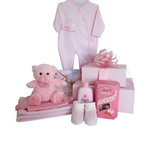 Baby Girl Teddy Hamper Gift Box