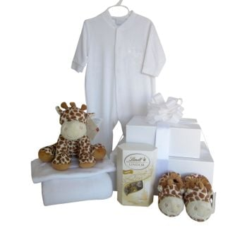 Giraffe Baby Gift Box Tower