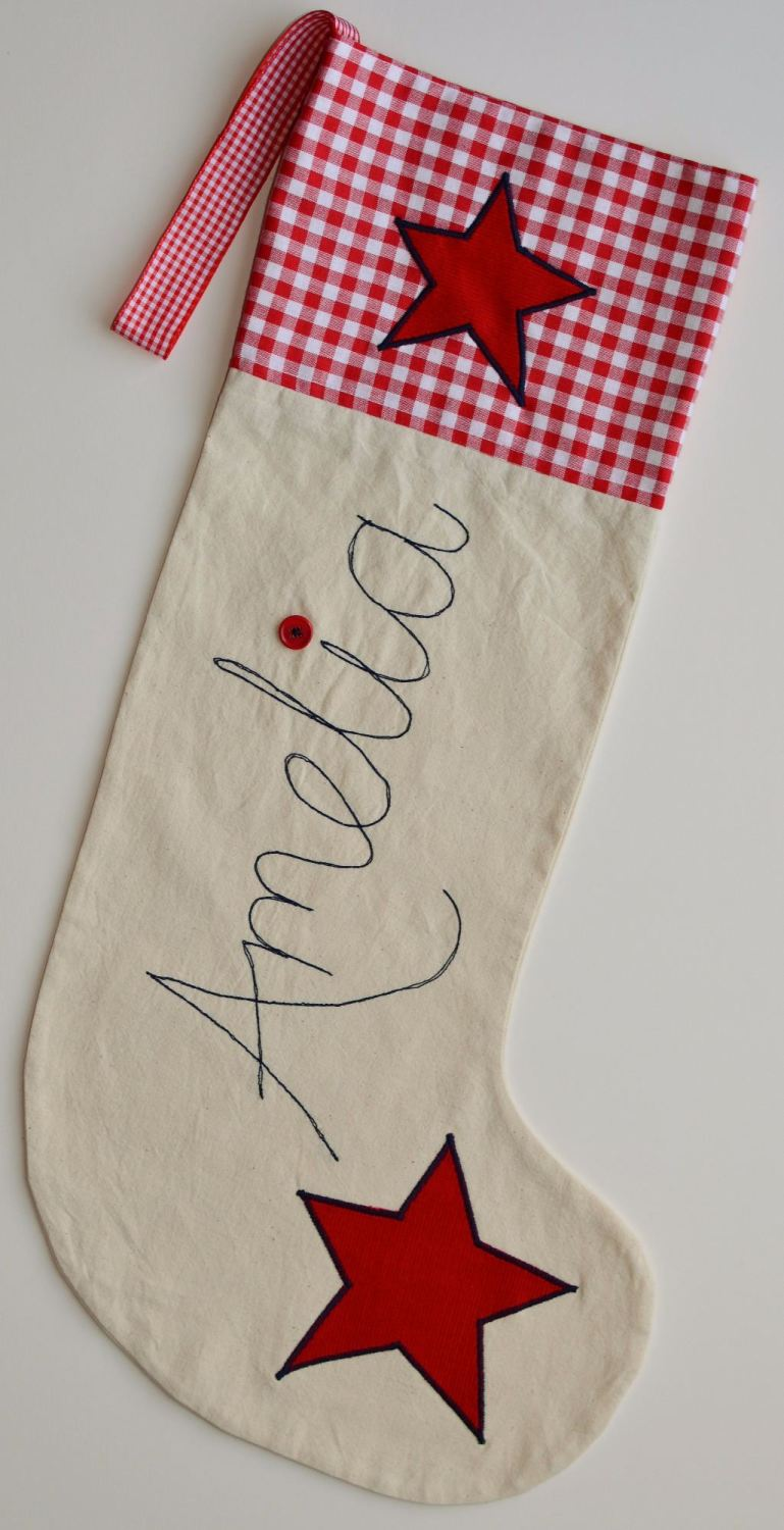 Red Gingham Stocking