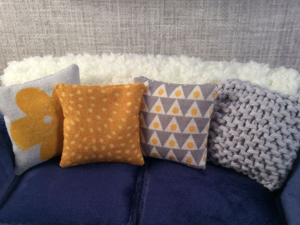 Grey and Yellow Cushion Set