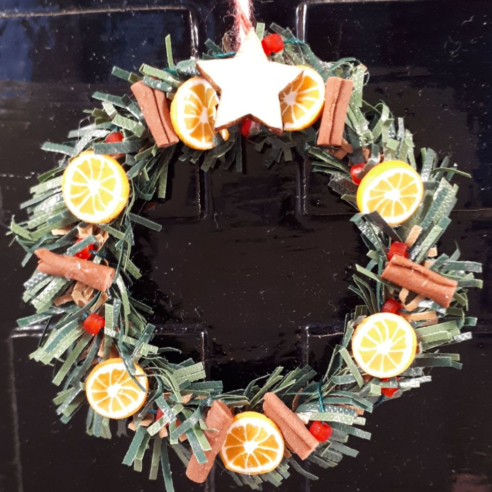 Orange and Cinnamon Door Wreath