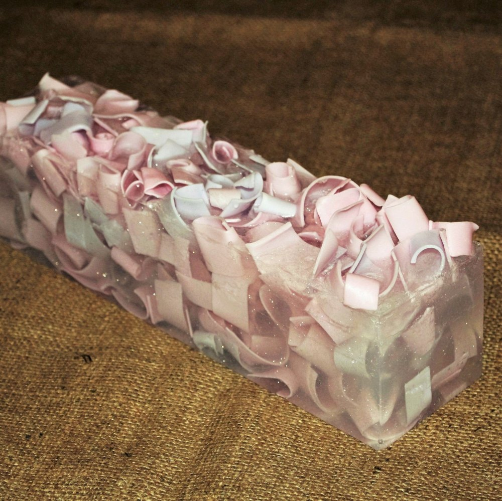 Pink And Purple Swirl Soap Loaf (Strawberry)