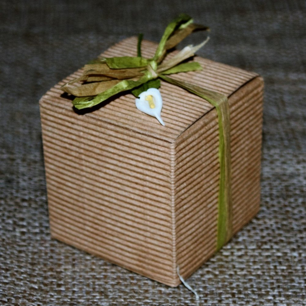 Brown Corrugated Favour Box
