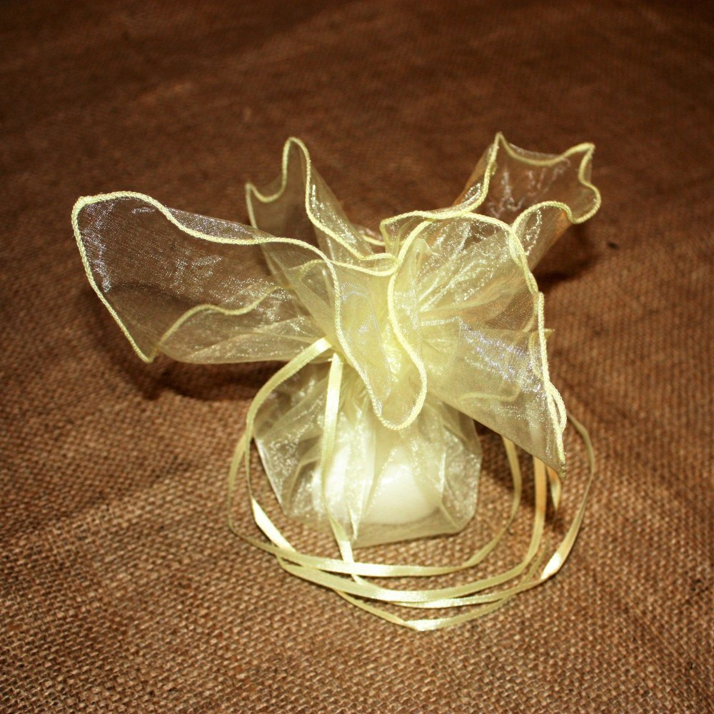 Yellow Organza Favour Bags