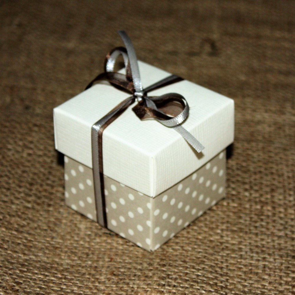 Two Tone Polka Dot Box