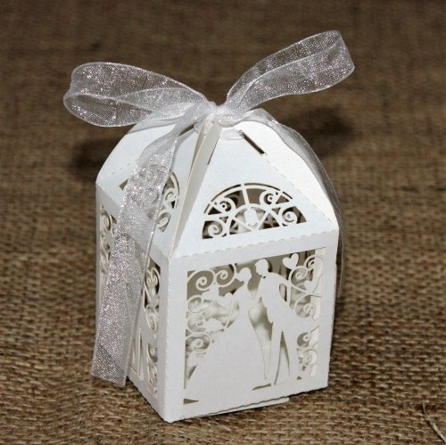White Bride And Groom boxes