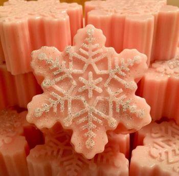 Christmas Raspberry Snowflake