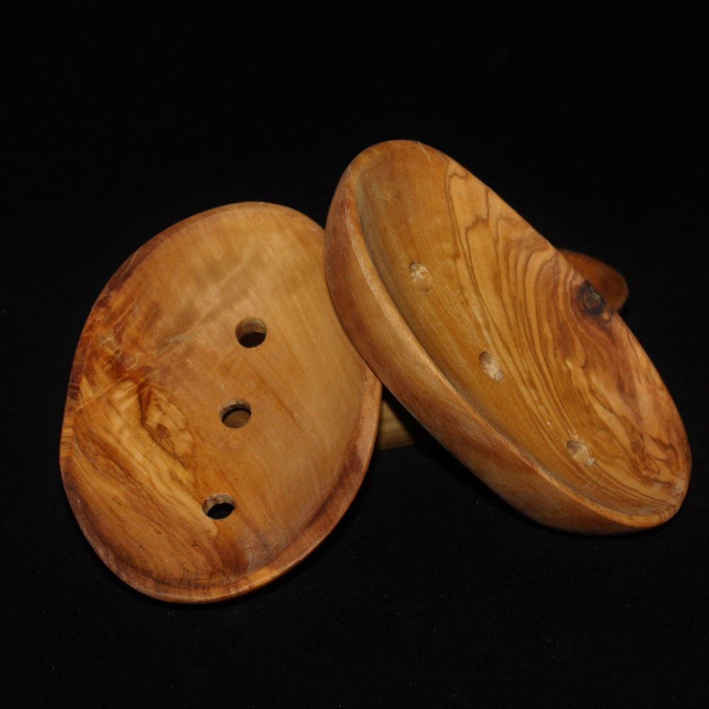 Olive Wood Soap Dish With Soap Bar