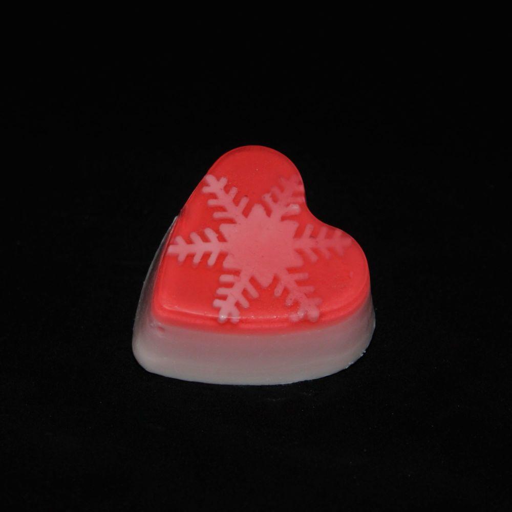 Christmas Heart Snowflake (Raspberry)