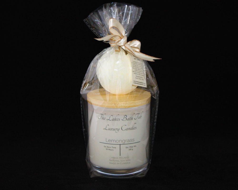<!--030-->Luxury Candle & Bath Bomb Set