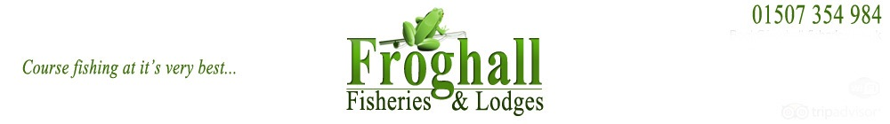 Froghall Fisheries & Lodges, site logo.