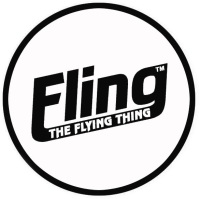 black & white fling logo