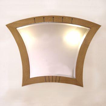Curved mantel mirror