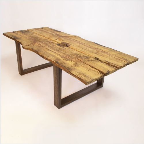 Large rustic ash coffee table