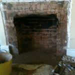Fireplace - during