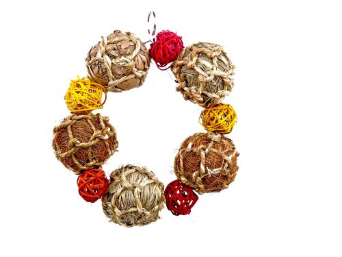 Ball Wreath - hanging ball chew