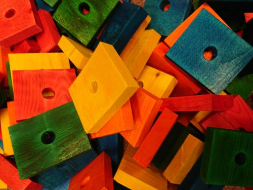 Coloured Pine big blocks 10 pack