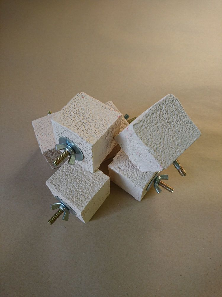 Bolted Pumice Block - nibble block