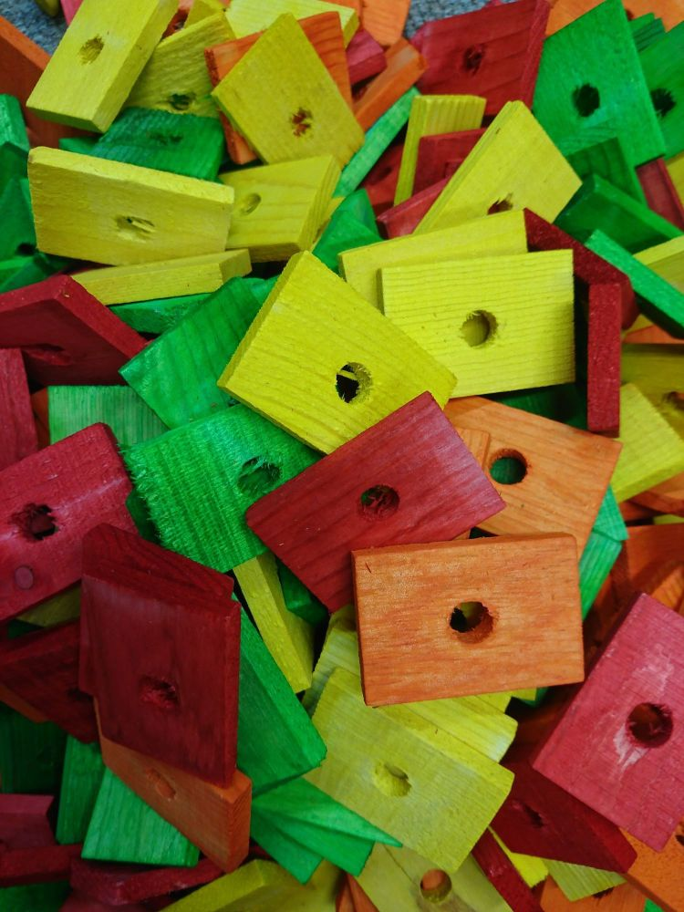 Coloured Pine Blocks - Charity
