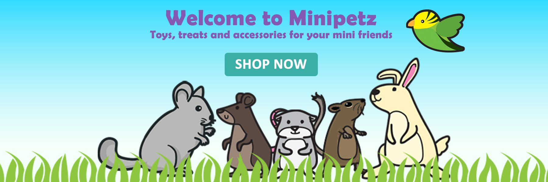 toys, treats and accessories for degus, chinchillas, rabbits, rats and guinea pigs