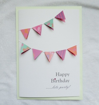 Birthday Bunting Card A5