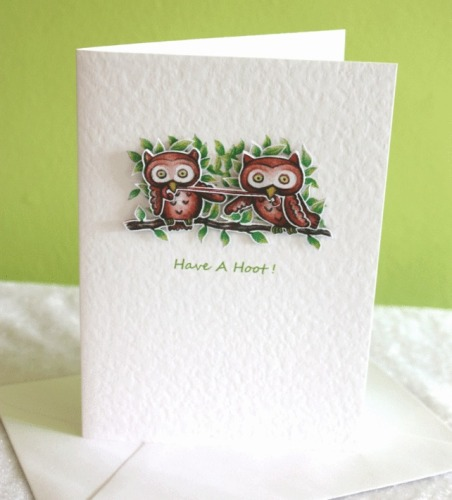 Two Little Owls A6