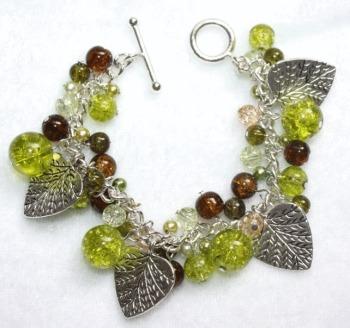 Forest Green Cluster Bracelet