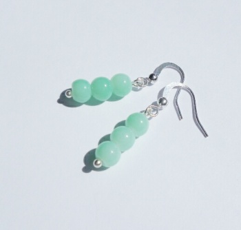 Aquamarine Silver Plated Earrings