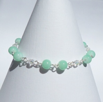 Aquamarine Silver Plated Magnetic Bracelet