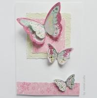 Butterflies in Pink A5