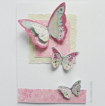 Butterflies in Pink A5
