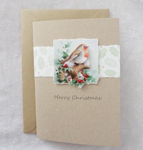 A6 Christmas Robin
