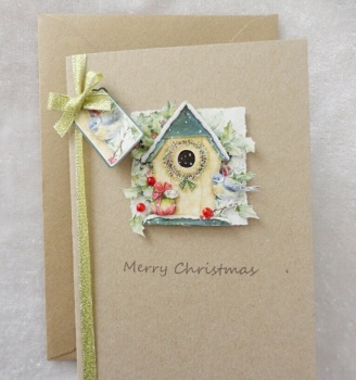 A6 Christmas Birdhouse