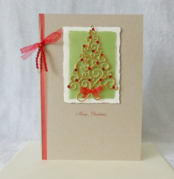 A5 Red Gem Christmas Tree