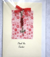 Thank You Teacher Card with Keepsake Charm 03