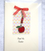 Thank You Teacher Card with Keepsake Charm 04
