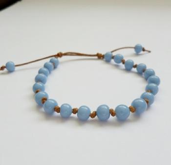 Pale Blue Sliding Knot Bracelet