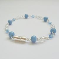 Sky Blue Silver Plated Bracelet