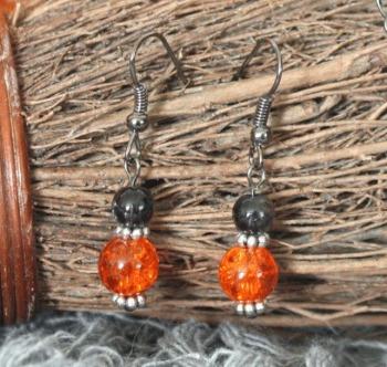 Halloween Orange Earrings