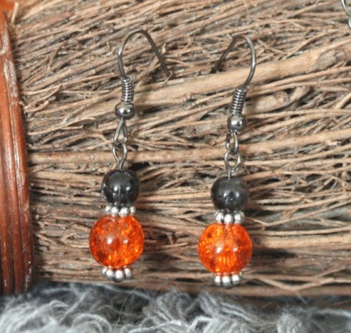 Halloween Orange Earrings