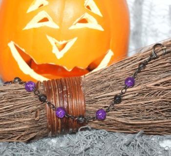 Halloween Purple Bracelet
