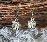 Halloween Pumpkin Charm Earrings
