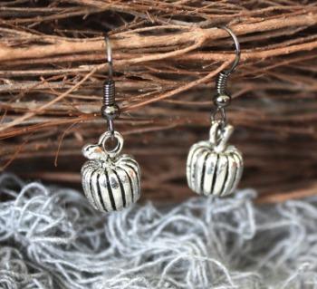 Halloween Pumpkin Charm Earrings