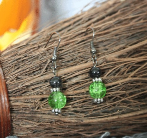 Halloween Green Earrings
