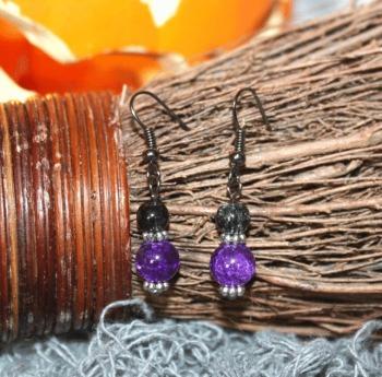 Halloween Purple Earrings