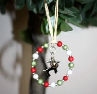 Christmas Tree Decoration with Black Reindeer